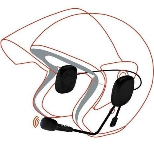 Manos libres bluetooth (v 4.2) para casco de motocicleta