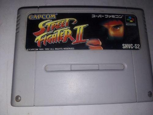 Street fighter ii snes japonés cartucho super famicom