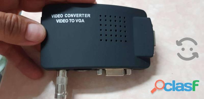 Convertidor Adaptador Bnc , Video Rca A Vga S video 4