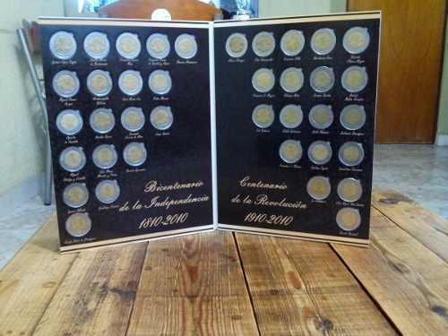Album con monedas bicentenario