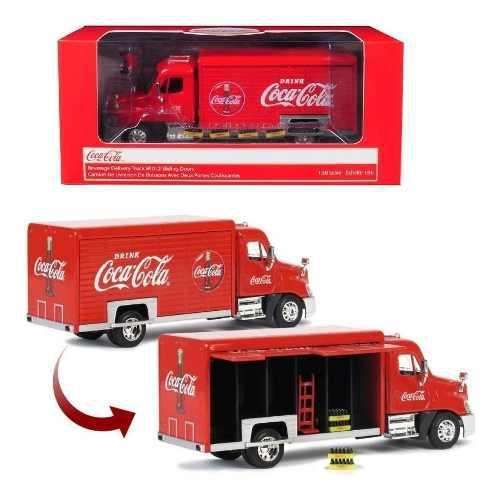 Camion repartidor coca cola freightliner motor city 1/50