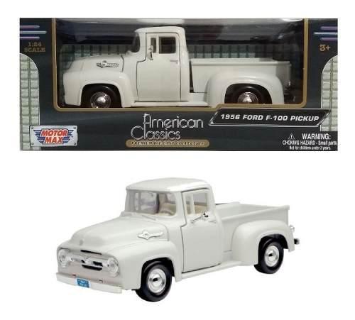 Camioneta ford f 100 1956 blanca motor max clasicos 1/24
