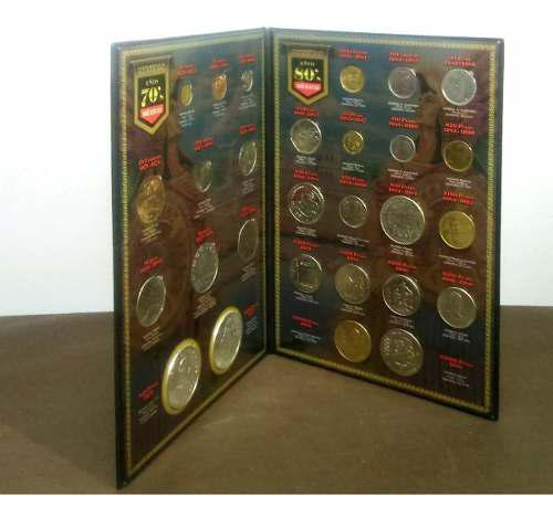 Coleccionador con monedas de los 70 & 80s