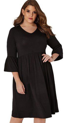 Elegante vestido talla extra midi curvy 610286 2