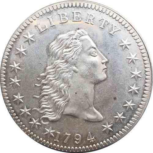 Moneda de estados unidos un dolar 1794 antiguo de coleccion