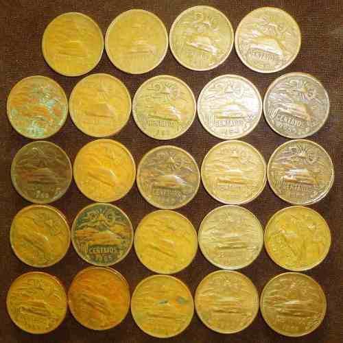 Monedas 20 centavos 1943 a 1974 piramide serie