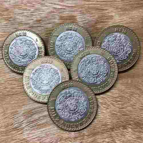 Monedas de 10 nuevos pesos raras, y con error de 2007