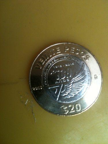 Monedas de 20 pesos fuerza aerea