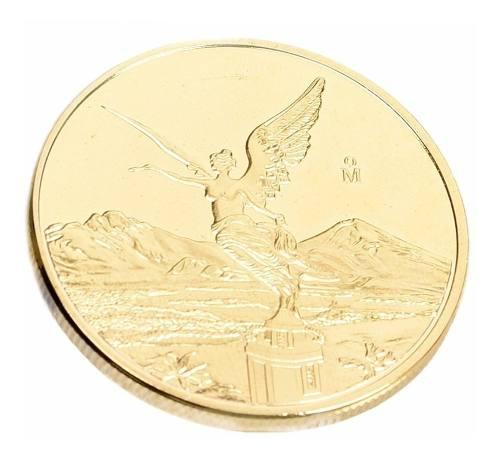 Onza libertad moneda de coleccion 24k baño oro 38mm