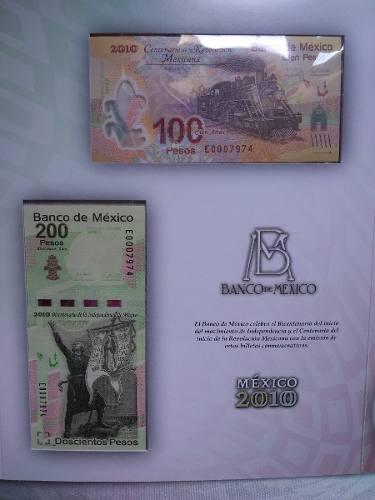 Set billetes 2010 bicentenario independencia y revolución