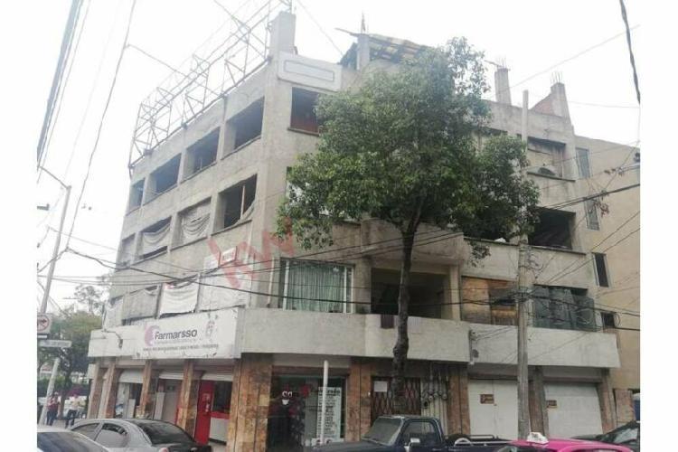 Venta de edificio en obra negra en alcaldía miguel hidalgo