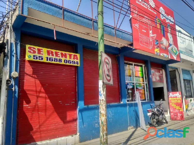 Rento local comercial 120m av. lopez portillo ecatepec