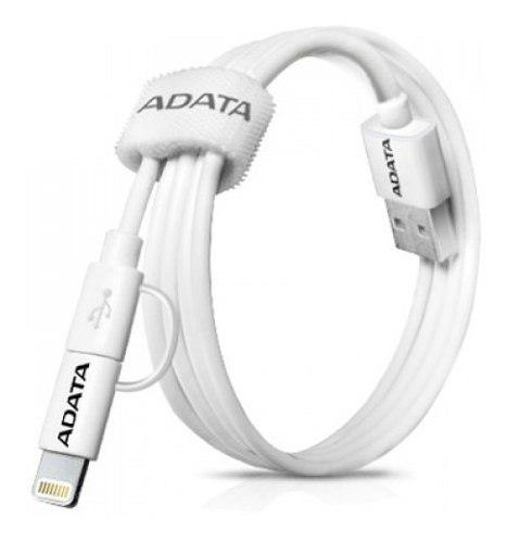 Adata cable usb lightning android iphone v8 100cm blanco