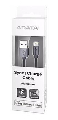 Adata cable usb lightning original iphone 100cm titanio /a