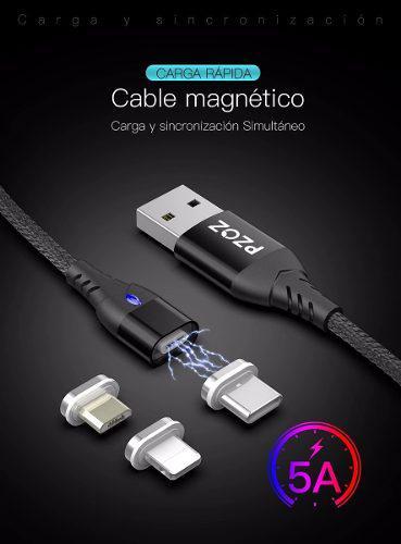 Cable magnético usb carga rápida pzoz 5a iphone android