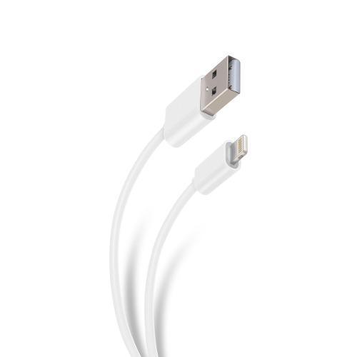 Cable usb iphone lightning blanco 2 metros steren