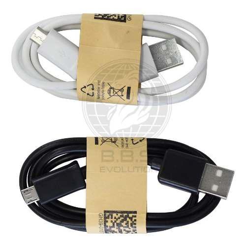 Cable v8 micro usb blanco negro solo carga individual