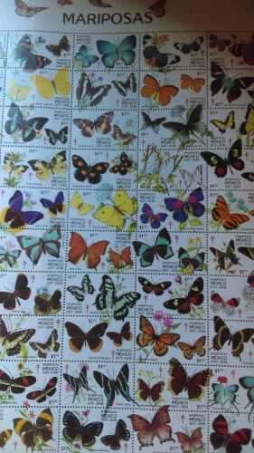 Timbres postales filatelia mariposas