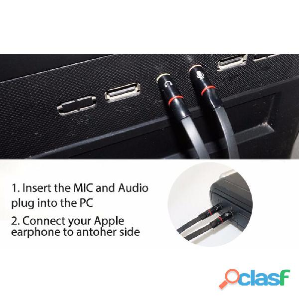 Adaptador Audio Estéreo 3.5 Mm Para Micrófono Y Audifonos 2 1