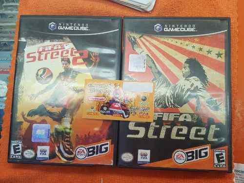 Fifa street + fifa street 2 gc game cube dos juegos paquete
