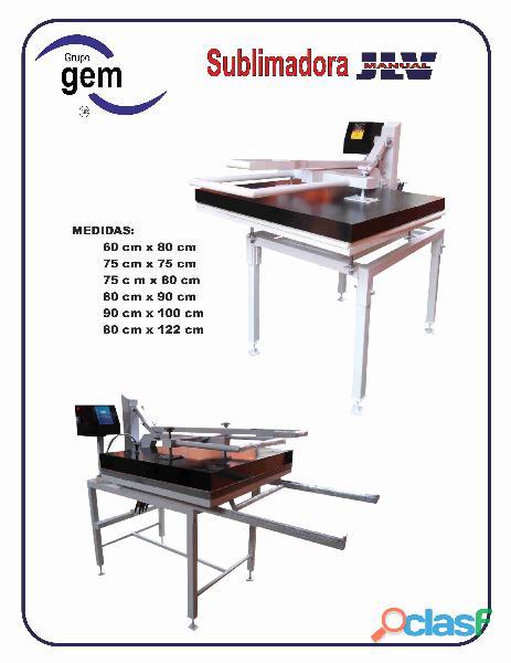 Sublimadora manual industrial .90 mts x 1.00 mts