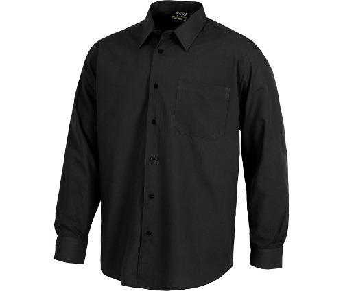 Camisas y blusas de vestir para oficinas negro azul xs a 2xl