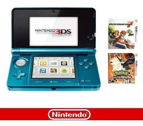 Nintendo 3ds 2 juegos accesorios completos excelente estado