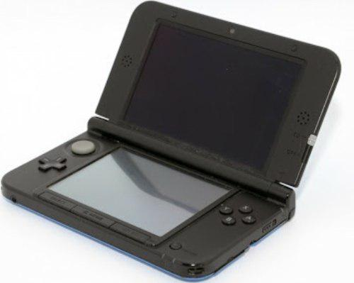 Nintendo 3ds azul exterior negro interior con 3 juegos 3ds