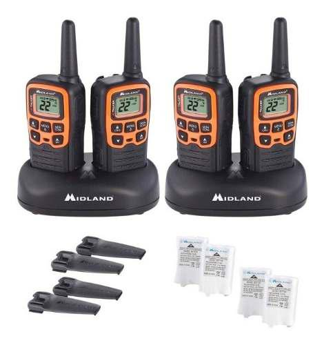 4 radios midland walkie talkie plus manos libres de regalo