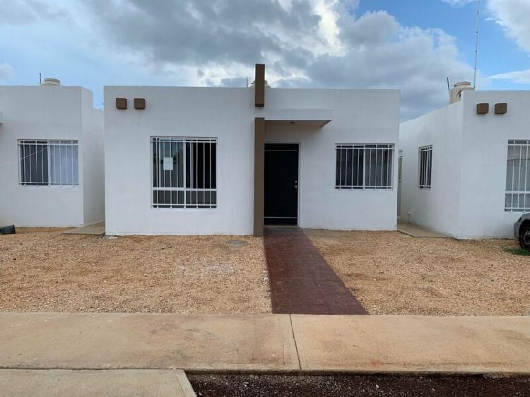 Casa renta caucel los almendros 4 merida yucatan