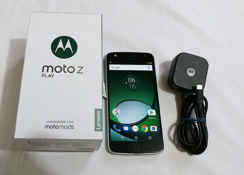 Moto z play, xt1635-02, estetica 9.5, en caja liberado