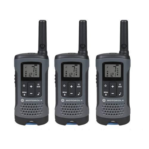 Radio motorola talkabout t200 3 pack walkie talkie 20 millas