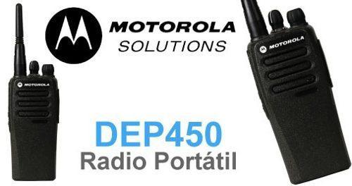 Radio portátil digital dep450 vhf 16 ch 4 w motorola