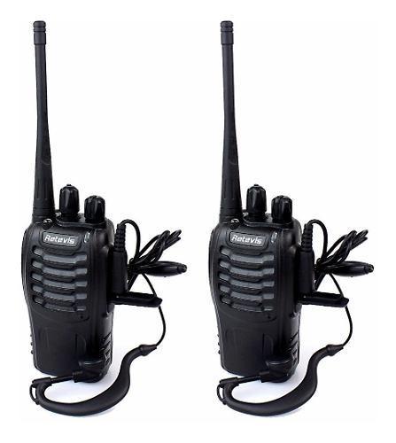 Set 2 radios retevis h-777 walkie talkie 2 vias 16 canales
