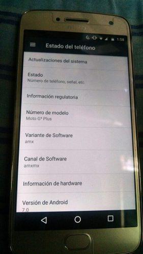Veta O Cambio Moto G5 Plus