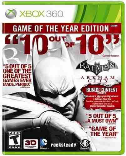 Batman arkham city goty edition xbox 360 nuevo sellado juego