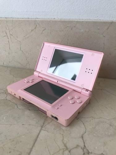 Nintendo ds lite rosa con estuche y juegos incluidos