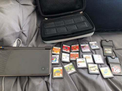 Nintendo ds xl negro con 15 juegos originales 2 actionreplay