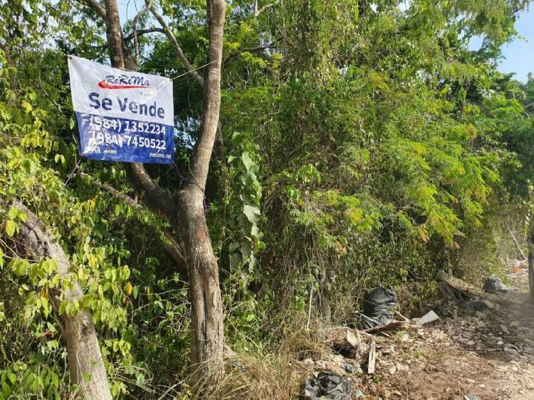 Terreno en venta en Tigrillo en Playa del Carmen