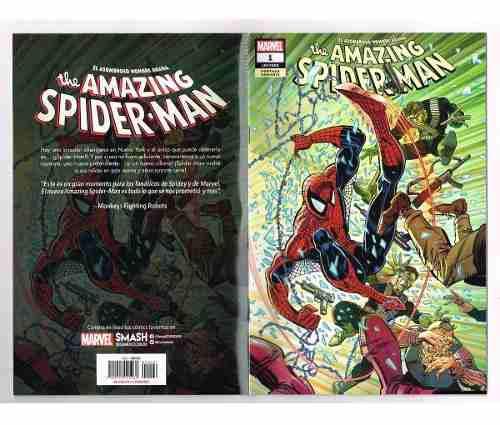 Amazing spiderman # 1 - variante 3 - fresh start -televisa
