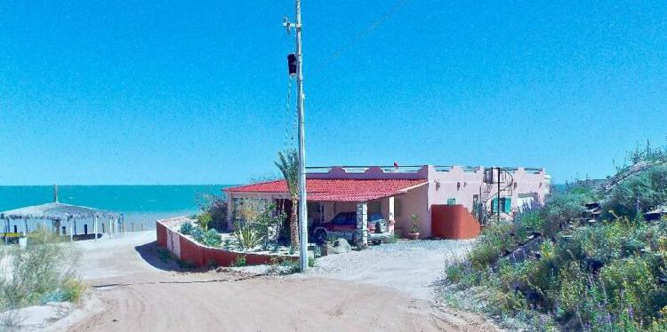Beachfront home for sale in Campo Ocotillos