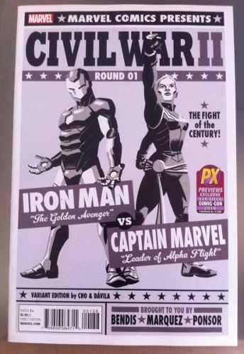 Civil war ii #1 portada variante (inglés, nuevo) iron man