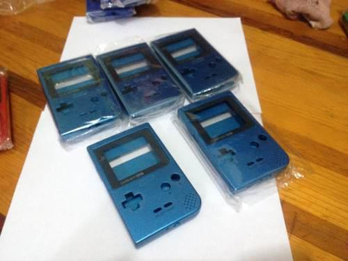Game boy poket cárcaza azul metálico semi nueva con envio