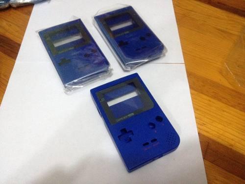 Game boy poket cárcaza azul semi nueva original con envio!!