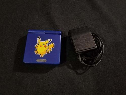 Gameboy advance sp azul 001 - detalle en pantalla