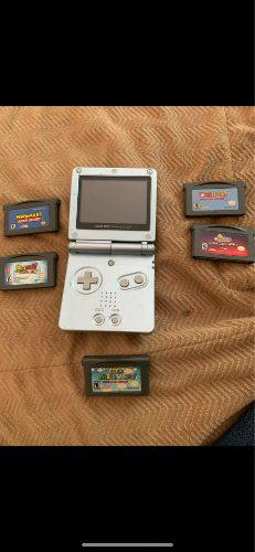 Gameboy advance sp con 5 juegos