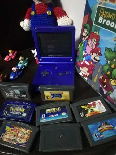 Gameboy advance sp con 8 juegos