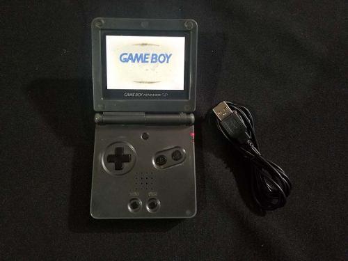 Gameboy advance sp negro 101 - con detalle en pantalla