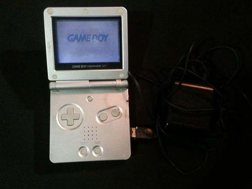Gameboy advance sp plata 001 - detalle en pantalla a