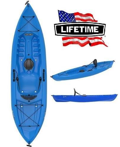 Kayak con remo lifetime azul